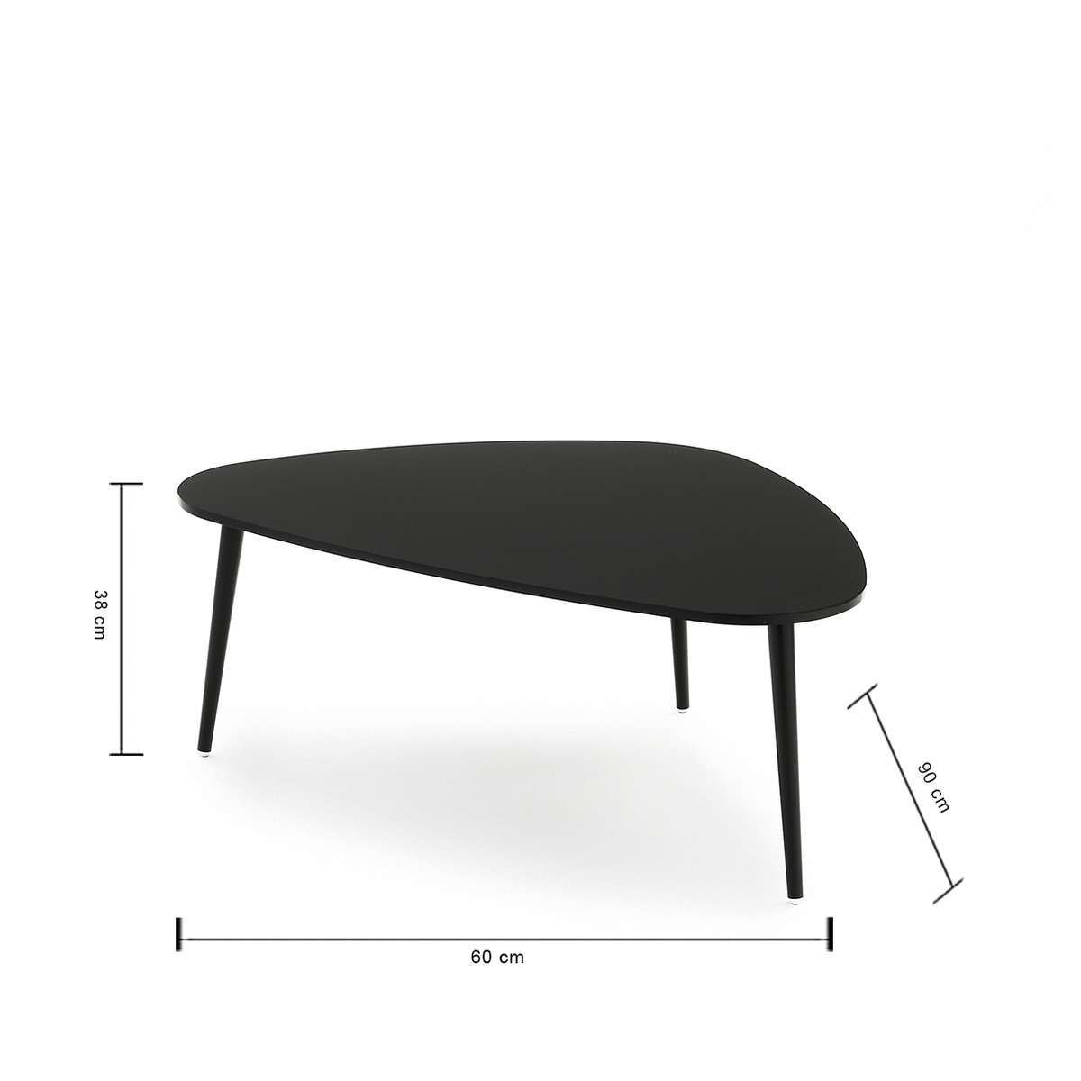 table basse soho triangle petite by coedition lovethesign. Black Bedroom Furniture Sets. Home Design Ideas