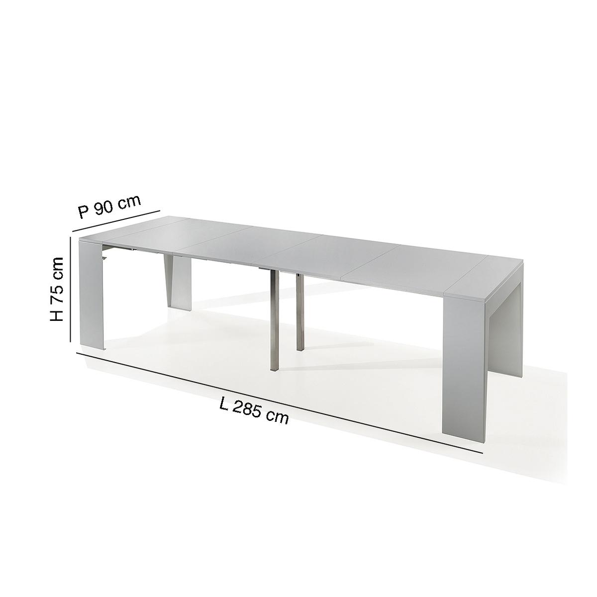 Consolle allungabile marvel con larghezza 90 cm by pezzani for Tavolo consolle 80 cm