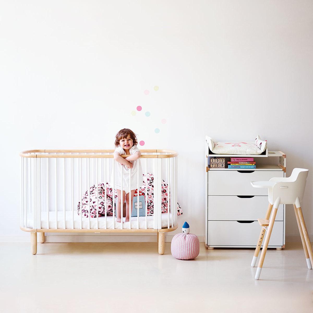 lit b b avec matelas by flexa lovethesign. Black Bedroom Furniture Sets. Home Design Ideas