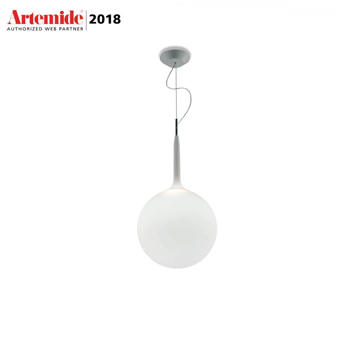 Lampadario Con Punto Luce Decentrato lampadario castore 35 cm by artemide | lovethesign