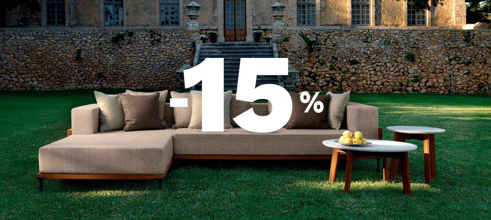 - 15% sur le design jardin : Le printemps est ici !