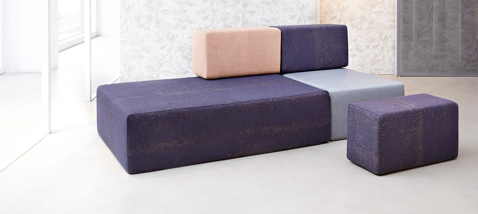 Rodolfo, modułowa sofa geometryczna