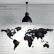 Sticker World map