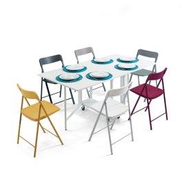Console Archimède avec table et 6 chaises
