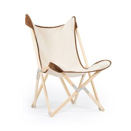 Tripolina Novecento Natural folding chair
