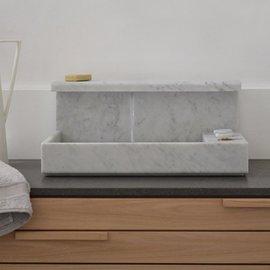 Lavabo da appoggio JP in marmo di carrara