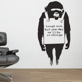 Sticker Banksy Monkey Sign