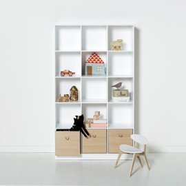 Wood 3x5 bookcase with base
