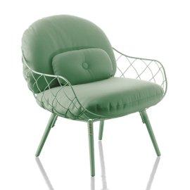 Piña armchair with fabric cushions