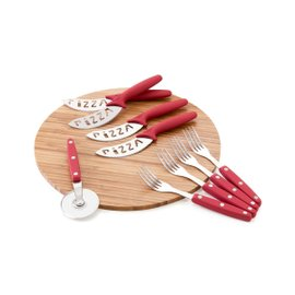 Cutting board with 9 cutlery Pizzainsieme