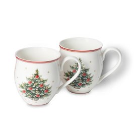 2 Toy's Delight Christmas Tree mugs