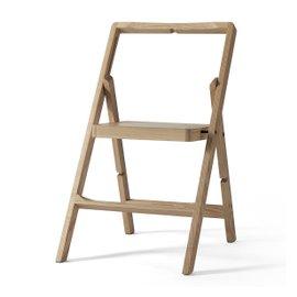 Mini Step foldable chair in oak