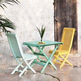 Tavolo con due sedie Eva - Balcony
