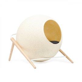 Cuccia per gatti The Ball con struttura bianca