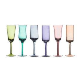 6 Bicchieri da grappa - colori assortiti