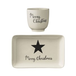 Piattino e tazza Christmas Star
