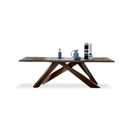 Big Table L 250 table with natural edges