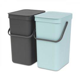 SortGo double 12-litre rubbish bin