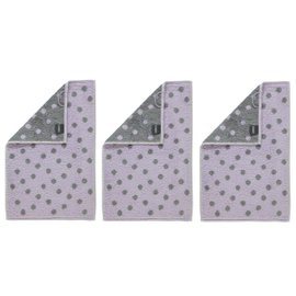 3 New Romantic hand towels large dots