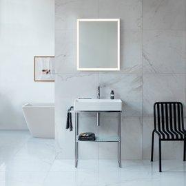 Composizione bagno DuraSquare con struttura metallica e specchio