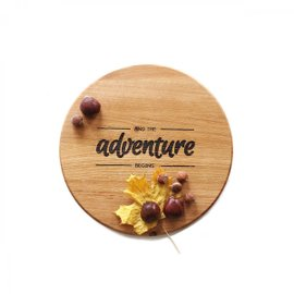 Adventure round cutting board