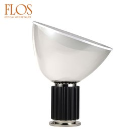 Taccia Led table lamp with glass shade
