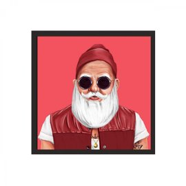 Santa Claus print with frame 80x80 cm