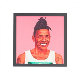 Barack Obama print with frame 50x50 cm