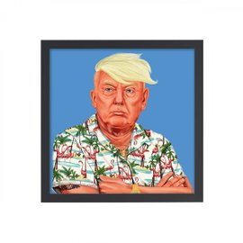 Donald Trump print with frame 50x50 cm