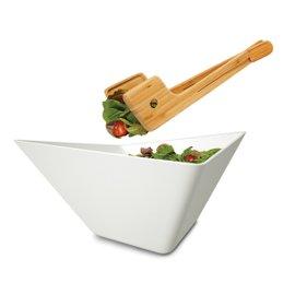 Forminimal salad bowl and servers