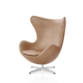 Egg Armchair in leather