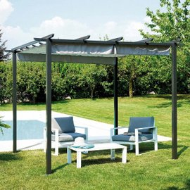 Pergola with sliding roof