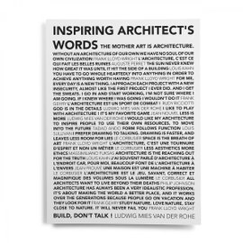 Poster Inspiring Architect's Words