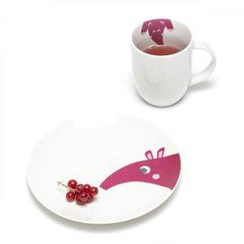 Mug con piattino Ameisenbär