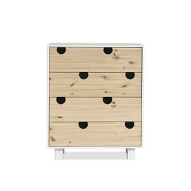 House 4-drawer chest – white