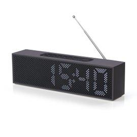 Titanium Aluminium radio alarm