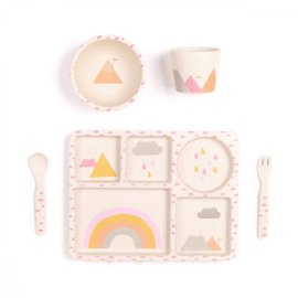 Rainbows Dinner Set - 5 pieces