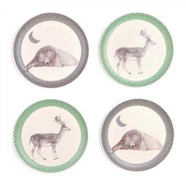 4 Bear and Deer Plates