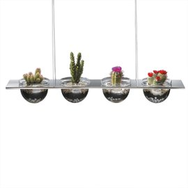 Suspended shelf with 4 half-spheres
