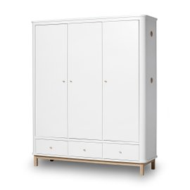 Wood 3-door Wardrobe