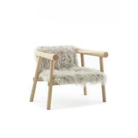 Altay armchair - Natural Mongolian goatskin