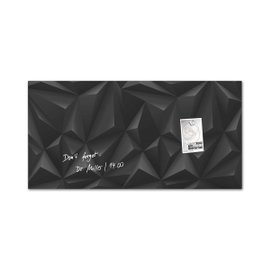Rectangular magnetic board - Black diamond
