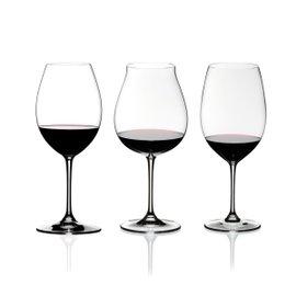 3 calici Vinum XL Red Wine Tasting Set