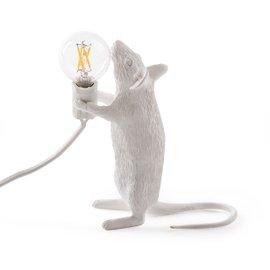 Lampada da tavolo Mouse in piedi - bianco