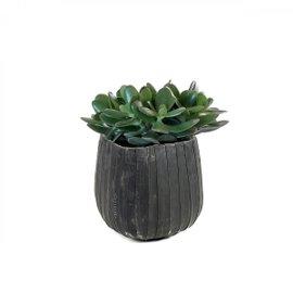 Squared rubber vase