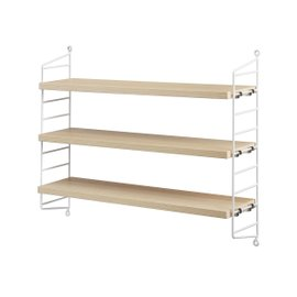 Ash wood String Pocket shelving system