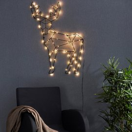 Reindeer Cupid wall decoration L 70 cm