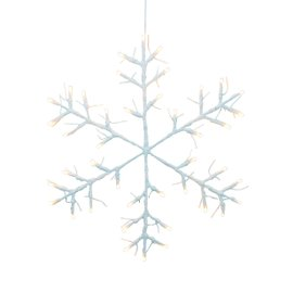 Tobby Star Snowflake wall decoration - white