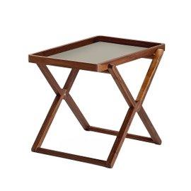 Folding coffee table with tray - Walnut