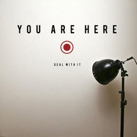 Sticker You Are Here